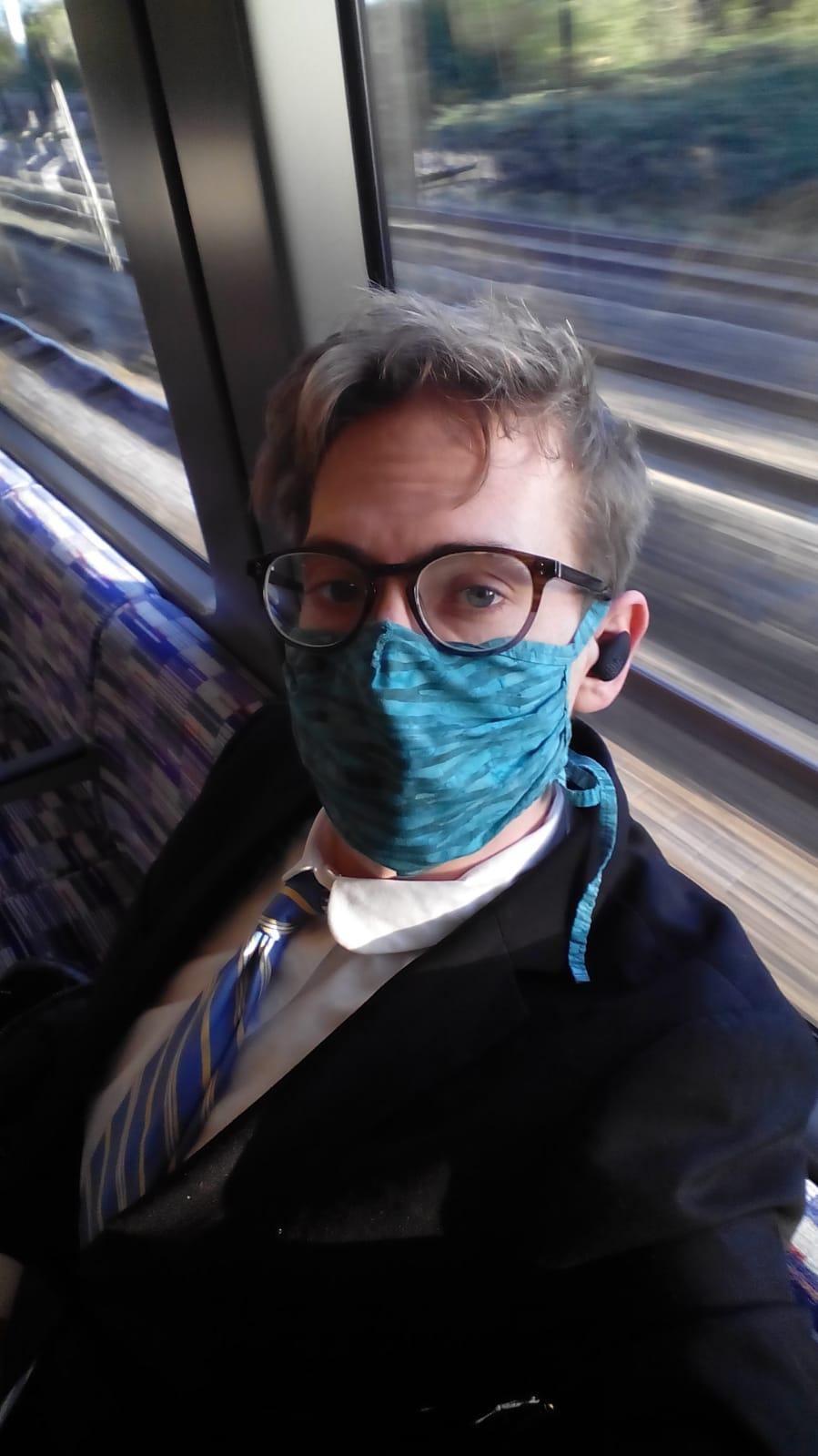 Jorik on his way to a job interview
